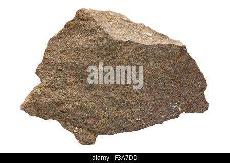 Harzburgite (orthopyroxene peridotite) - Stock Image
