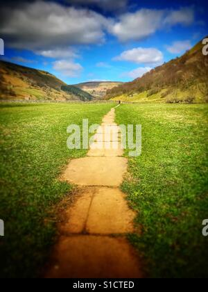 Yorkshire Dale's, Pennine Way. Footbpath - Stock Image