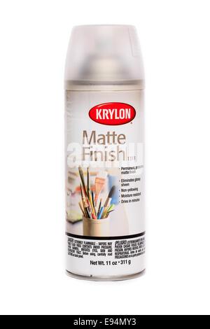 Krylon Clear Matte Finish - Stock Image