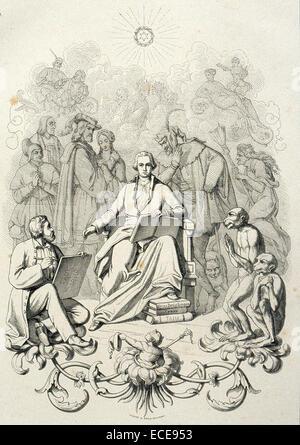 Johann Wolfgang von Goethe (1749 – 1832), German writer and statesman - Stock Image