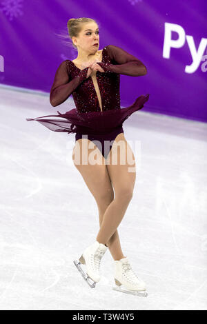 Nicole Rajičová (SVK) competing in the Figure Skating - Ladies' Short at the Olympic Winter Games PyeongChang 2018 - Stock Image