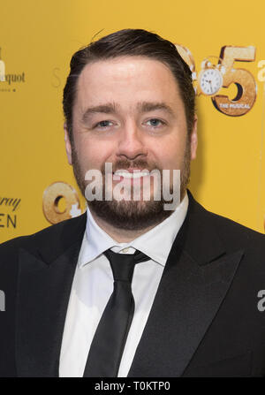 Celebs attend gala evening for Dolly Parton's 9 to 5 The Musical  Featuring: Jason Manford Where: London, United Kingdom When: 17 Feb 2019 Credit: Phil Lewis/WENN.com - Stock Image