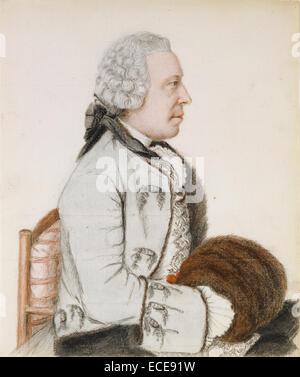 Portrait of Charles Benjamin de Langes de Montmirail, Baron de Lubières ; Jean-Étienne Liotard, Swiss, - Stock Image