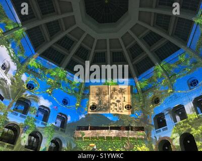 White Night in Melbourne of light projections in State Library of Victoria - Stock Image