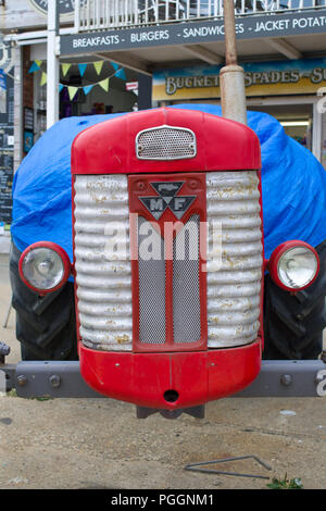 Front View of old Massey Ferguson 65 - Stock Image