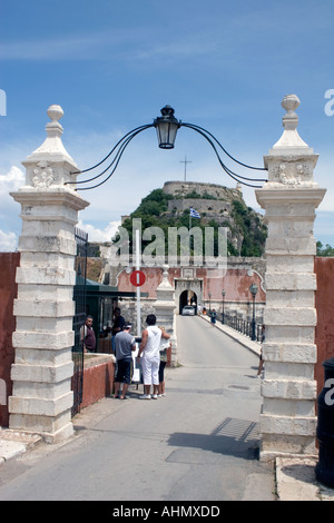 Entrance to the Old Fortress Kerkyra Corfu - Stock Image