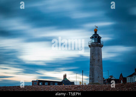 Evening at Kingston Lighthouse in Shoreham-by-Sea, West Sussex, England. - Stock Image