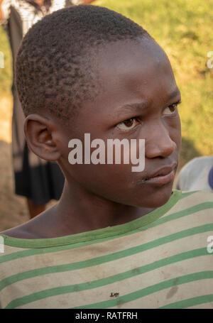 Young Ugandan Boy, Bwindi, Uganda, Africa - Stock Image