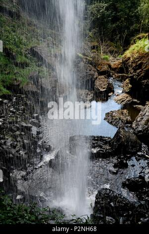 France, Cantal, Salins waterfall in summer - Stock Image