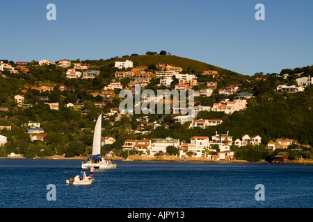 south africa garden route Knysna sailing ship - Stock Image