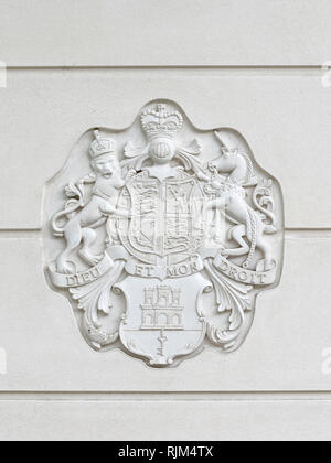 Gibraltar coat of arms - Stock Image