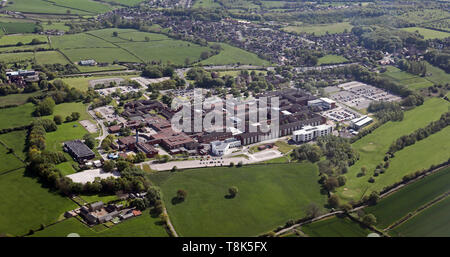 aerial view of Chesterfield Royal Hospital - Stock Image