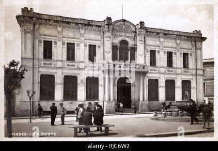 Brindisi, Italy - The Post Office. - Stock Image