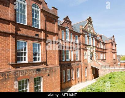 Red brick Victorian nineteenth century Technical College building, Swindon, Wiltshire, England, UK - Stock Image