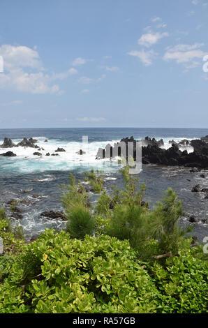 Rugged coastline of the Big Island, Hawaii - Stock Image