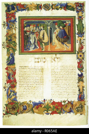 6343. Rabbi Ben Asher,Even HaEzer, Mantua, Italy, 1435 - Stock Image