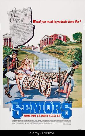SENIORS, US poster art, 1978 - Stock Image