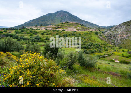 Mycenae is an archaeological site in Greece. Once a centre of Greek civilization. - Stock Image