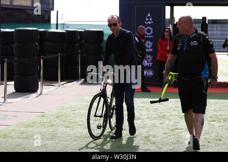 Silverstone, Northampton, UK. 11th July 2019. F1 Grand Prix of Great Britain, Driver arrivals day; ROKiT Williams Racing, Robert Kubica Credit: Action Plus Sports Images/Alamy Live News - Stock Image