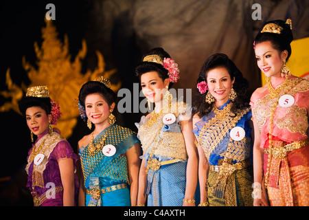 Thailand, Nong Khai, Nong Khai. Kathoey (ladyboy) beauty pageant. - Stock Image