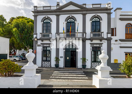 The town hall and civic centre in Haria Lanzarote - Stock Image