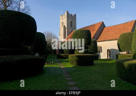 BorleyParish Church - Stock Image