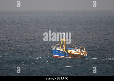 Beam trawler Clasina fishing off French coast in northern Bay of Biscay September - Stock Image