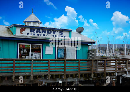 MONTEREY, CALIFORNIA - May 13, 2016: Monterey has attracted artists since the late 19th century and many celebrated painters and writers have lived th - Stock Image