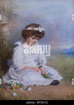 Little Speedwell's Darling Blue, John Everett Millais, 1891-1892, Lady Lever Art Gallery, Port Sunlight, Liverpool, England, UK, Europe - Stock Image
