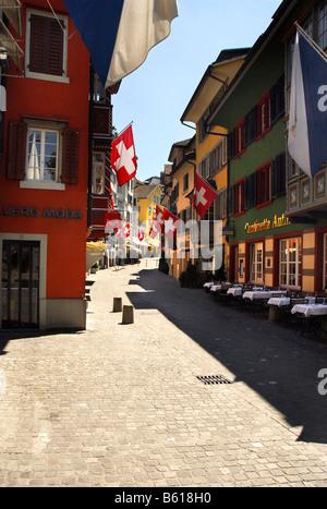 Augustiner Gasse, alley, Zurich, Switzerland, Europe - Stock Image