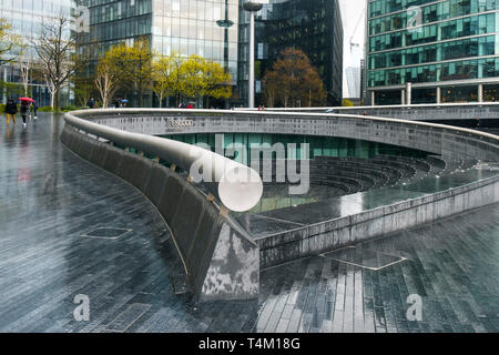 The Scoop in the More London Development area on the South Bank in London. - Stock Image