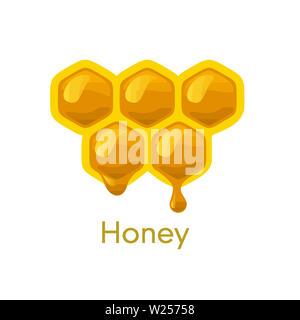 beehive honeycomb bee food    honey  natural  sweet illustration - Stock Image