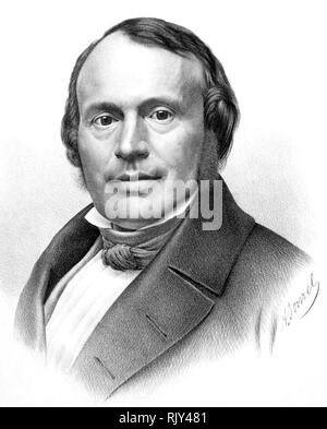 LOUIS AGASSIZ (1807-1873) Swiss-American biologist and geologist - Stock Image
