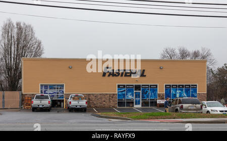 HICKORY, NC, USA-1/3/19: Fastenal is an American company, distributor of industrial, safety and construction supplies. - Stock Image