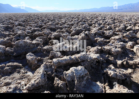 Devil`s Golf Couse, Death Valley, California, USA - Stock Image