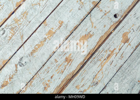 Textured wooden background in white paint diagonal panels - Stock Image