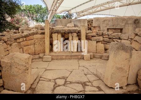 Tarxien Temples in Malta - Stock Image
