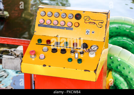 Control panel texture with lots of buttons - Stock Image