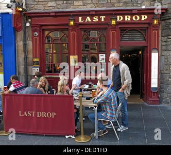 Last Drop, Tourist Bar, Grassmarket, Edinburgh, Scotland, UK - Stock Image