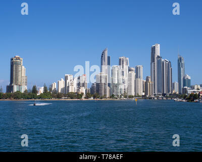Surfers Paradise Cityscape On The Gold Coast - Stock Image
