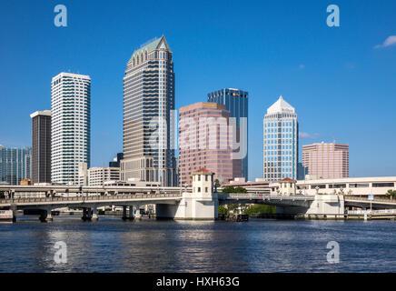 Tampa skyline CBD skyscrapers, Florida, USA - Stock Image