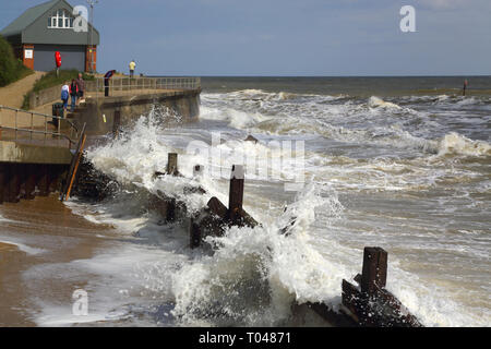 mundesley lifeboat station on the norfolk coast - Stock Image