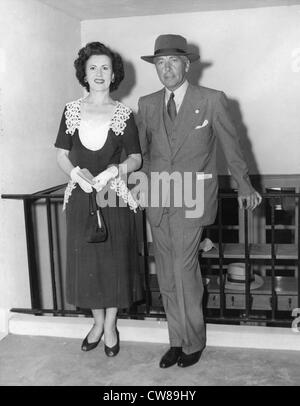 General Robert Johnson II and wide at Hialeah Racetrack, 1951 - Stock Image
