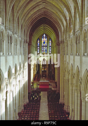 Downside Abbey, Somerset, UK. A Benedictine monastery also known as the Basilica of St Gregory the Great, construction began in 1873 and is still unfinished. - Stock Image