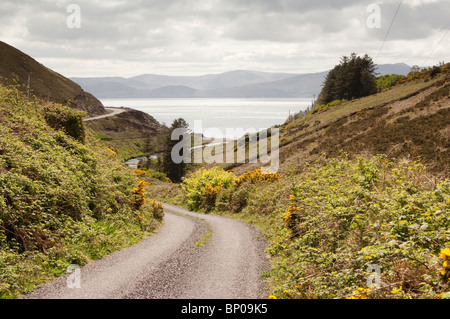 Lonesome Road #55. Remote Irish country road - Stock Image