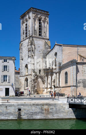 St Sauveur Church in the port of La Rochelle on the coast of the Poitou-Charentes region of France. - Stock Image