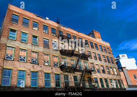 Facade of New York in the Meatpacking District - Stock Image