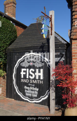 the Fish Shed in Ticehurst, East Sussex, United Kingdom - Stock Image