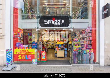 A branch of the Australian shop Smiggle in Oxford Street. - Stock Image