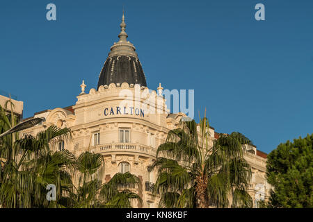 Carlton Hotel, Cannes, Alpes maritime,  Cote D'Azur, Provence, France - Stock Image